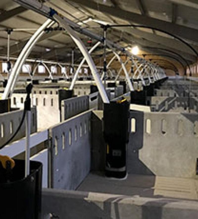 Detalle de interiores de hormigón